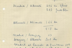 madrid-albacete, albacete-alicante, madrid-aranjuez, aranjuez-albacete, madrid-parador de quintanar,