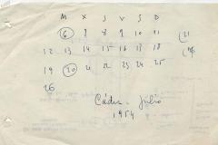 calendario julio 1954 cádiz