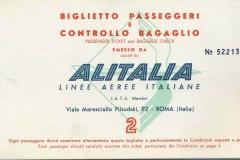 billete de avión alitalia