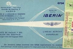 billete de iberia con sello del aeropuerto de nice, côte d´azur