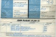 plan de vuelo de klm, marsella, barcelona, madrid