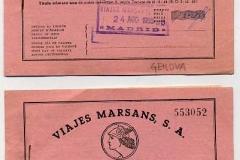 viajes marsans, billetes de tren génova y san remo