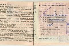 billete de tren de viajes meliá a tarragona en 1967