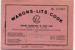 billetes de tren de wagons lits cook. elvas-badajoz, valencia de alcántara-madrid