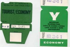 tarjetas de embarque, iberia