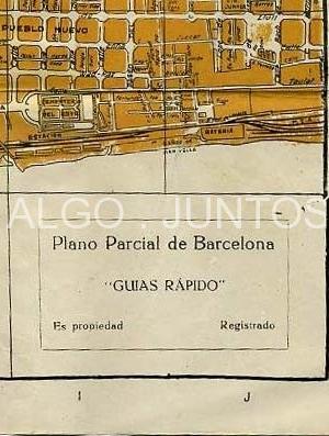 plano parcial de barcelona, guías rápido