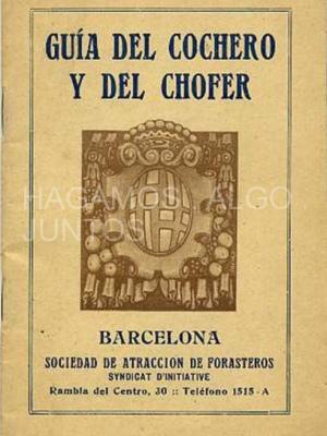 guía del cochero y del chófer, barcelona