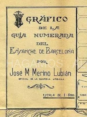 guia numerada del ensanche de barcelona