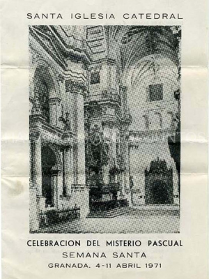 santa iglesia catedral, celebracion del misterio pascual, semana santa 1971