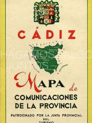 cadiz, mapa de comunicaciones de la provincia