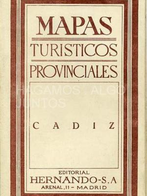 mapas turisticos provinciales, cadiz