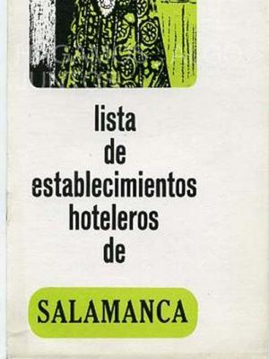 lista de establecimientos hoteleros de salamanca 1968