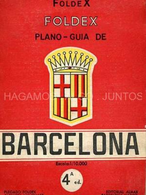 foldex, plano guia de barcelona