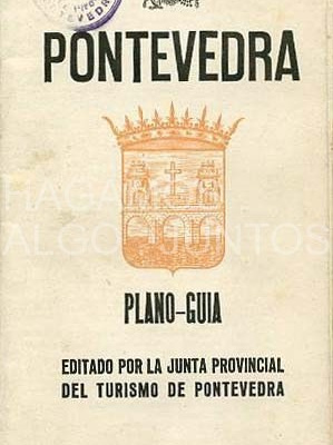 pontevedra plano guía editado por junta provincial de turismo de pontevedra