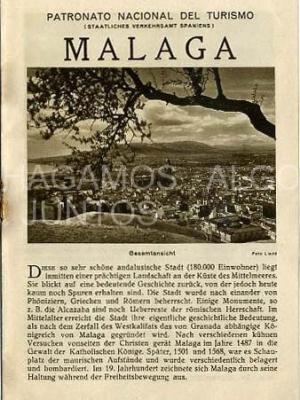 patronato nacional del turismo, málaga