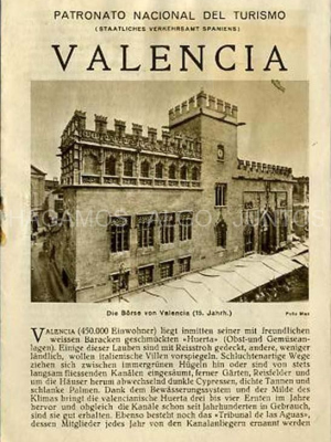 patronato nacional del turismo, valencia