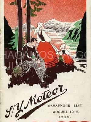s/y meteor passenger list, 1929
