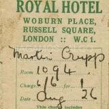 royal hotel london, 1926