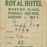 royal hotel london, 1927