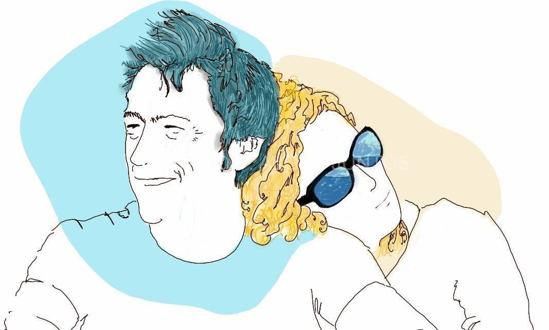 Santi y Maria. Ilustración digital