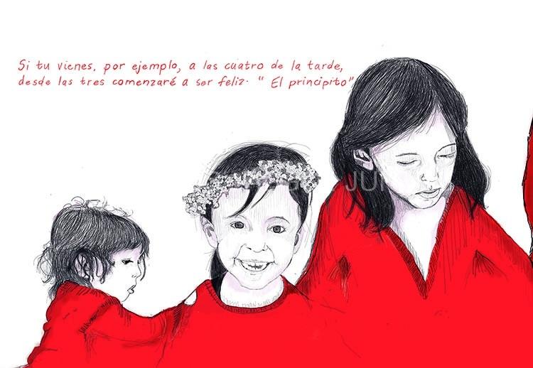 Lucía. Ilustración digital. Cartelería