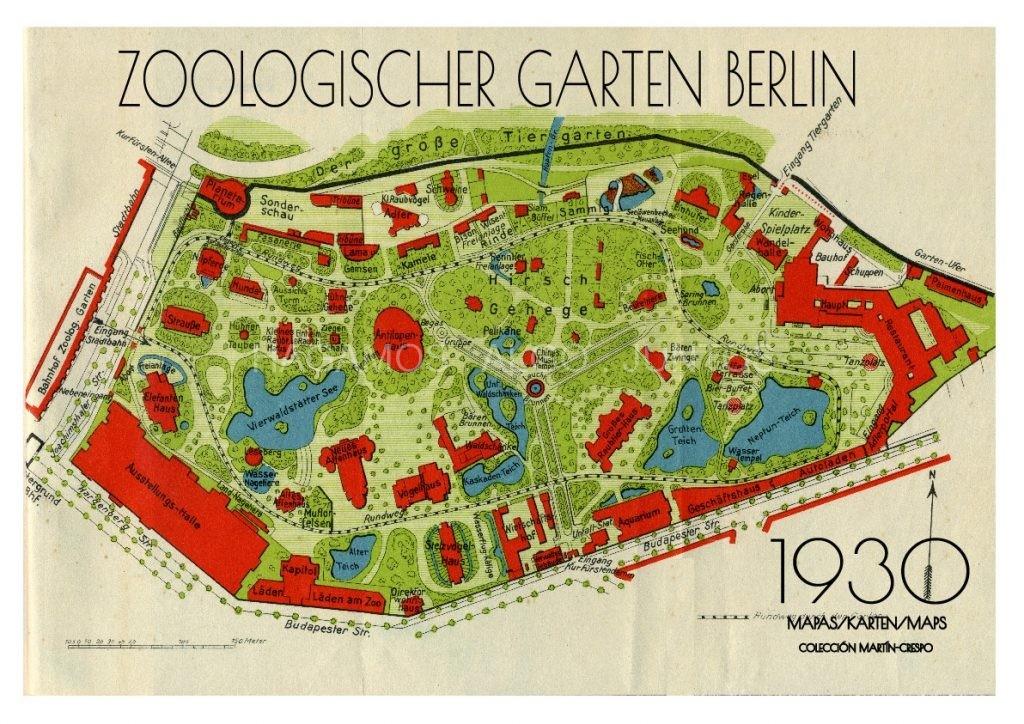 Zoo de Berlín 1930. Cartelería
