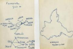 mapa de zaragoza, zaragoza, lérida. tarragona, castellón,