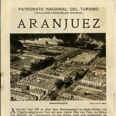 patronato nacional de turismo, aranjuez
