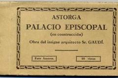 astorga, palacio episcopàl (en construcción) obre del insigne arquitecto de gaudí, foto amores, león