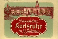 das sch¨ne karlsruhe in 33 bildern, postales de karlsruhe, alemania