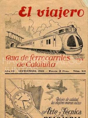 el viajero, guia de ferrocarriles de cataluña