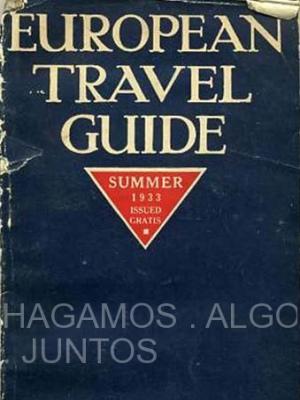 european travel guide, summer 1933, american express, travel department