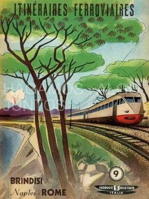 ferrovie dello stato, itinéraires ferroviaires, brindisi-napoles-roma