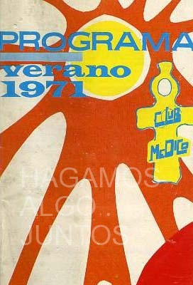 programa de verano 1971. club médico