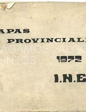 mapas provinciales de españa, 1972, ine