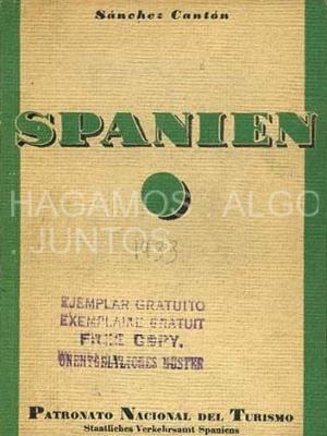 sánchez cantón, spanien, patronato nacional de turismo, 1933