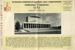 2nd national exhibition of television.radio-cinematography and international of electronics, roma 1955