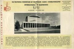 2nd national exhibition of television.radio-cinematography and international of electronics, roma 1955