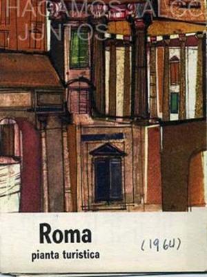 touring, roma pianta turistica