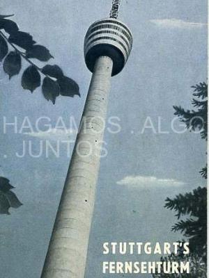 stuttgart´s fernsehturm. ofizieller führer mit panorama-karte